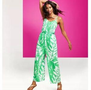 Lilly Pulitzer Target Boom Jumpsuit V Neck Palm